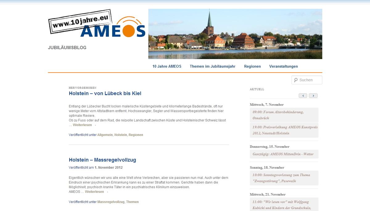 Startseite des Jubiläumsblogs