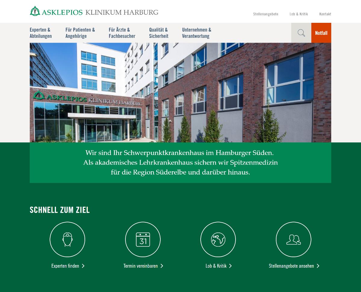 Neue Website der Asklepios Kliniken