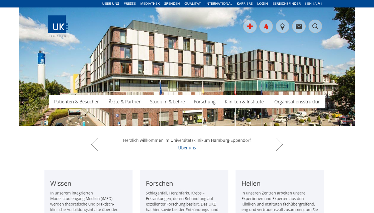 Platz 3: Universitätsklinikum Hamburg-Eppendorf (UKE)