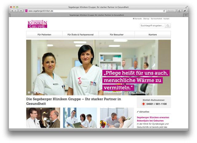 Neue Website der Segeberger Kliniken Gruppe