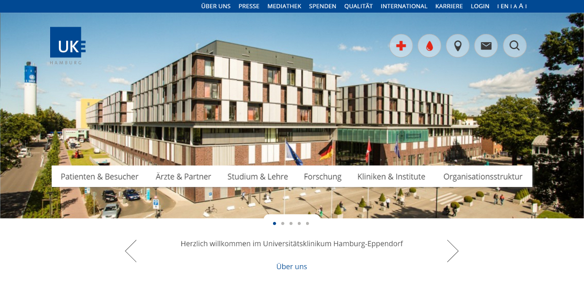 Neue Website des Universitätsklinikums Hamburg-Eppendorf